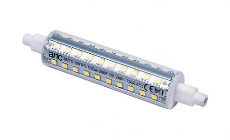 Bombilla de LED Aric - R7S - 10 W - 3000 K - 118 mm: Amazon.es: Bricolaje y herramientas