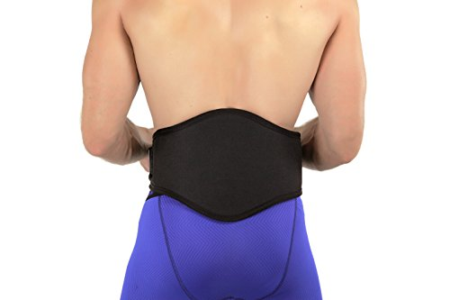 Back-A-Line Deluxe Lower Back Brace Support Belt With Curved Firm Lumbar Pad  - Helps Correct Spinal Mechanics and Relief Back Pain (Medium 31-36)