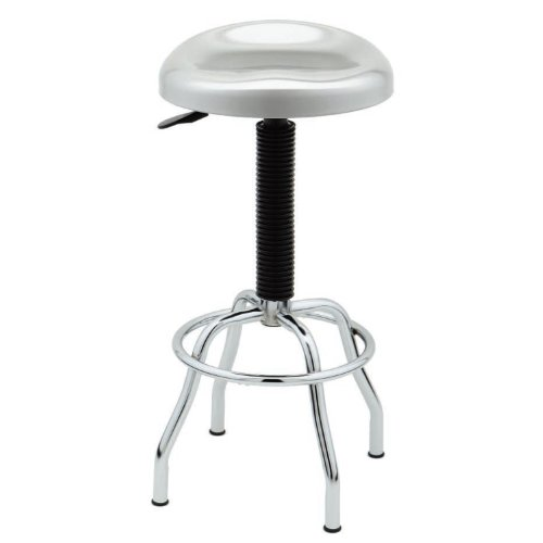 Seville Classics WEB181 Stainless Steel Pneumatic Contoured Seat Work Stool by Seville Classics (Image #1)