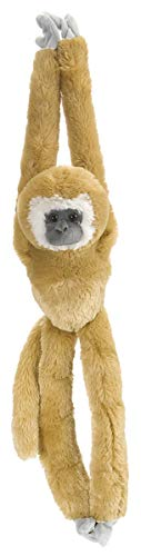 Wild Republic White Handed Gibbon Plush, Monkey Stuffed Animal, Plush Toy, Gifts for Kids, Hanging 20 -