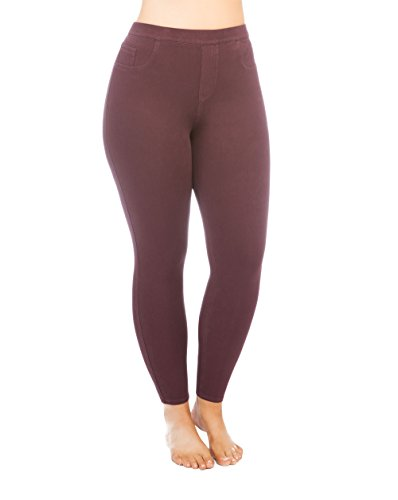 SPANX Jean-ish Ankle Leggings - Plus Size, Brandywine, 1X by SPANX