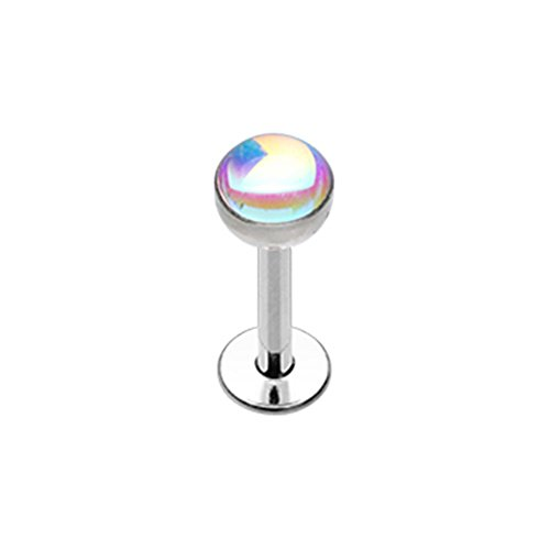 16G Inspiration Dezigns Revo Dome Steel Labret (Sold Individually) (16G, Length: 5/16
