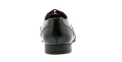 Tailles Habillées Lambretta À Noir Noir noir 12 Uk Bruce Pour hommes 7 Neuf Chaussures Hommes Black Lacets qRwx7BAx