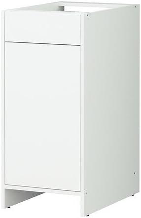 Ikea Fyndig Meuble Bas Avec Porte Et Tiroir Blanc Blanc