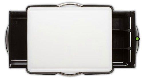 Cutting Board, White Board, Black Base All in One, by Koku