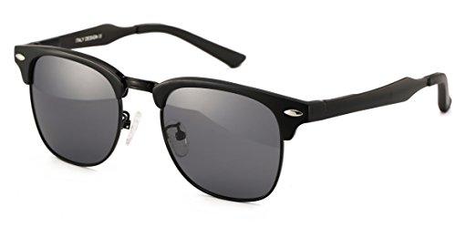 Larvin Torria Clubmaster Polarized Wayfarer Sunglasses Horn Rimmed Half - Glasses Wayfarer Clubmaster