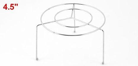 Amazon.com: eDealMax acero inoxidable Alimentación vapor Vapor soporte rack 11, 5 cm Dia: Kitchen & Dining