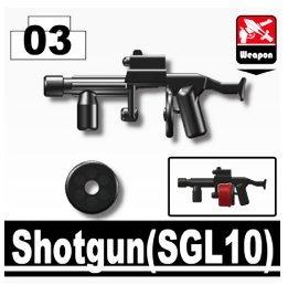 Price comparison product image Striker Shotgun 3 Pack in Black - Custom Minifigure Pieces