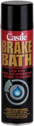 Castle Brake Bath - Cleans and Degreases All Brake Parts (14 Oz Aerosol Can)