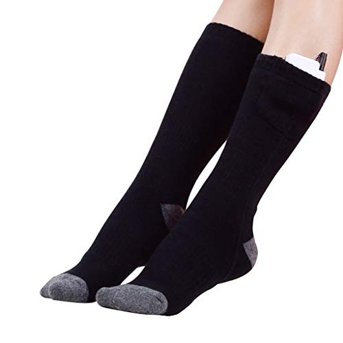 Price comparison product image Highpot Men Women Electric Heated Socks Rechargeable Battery Heat Thermal Sox,Novelty Winter Outdoor Sports Warm Heating Sock