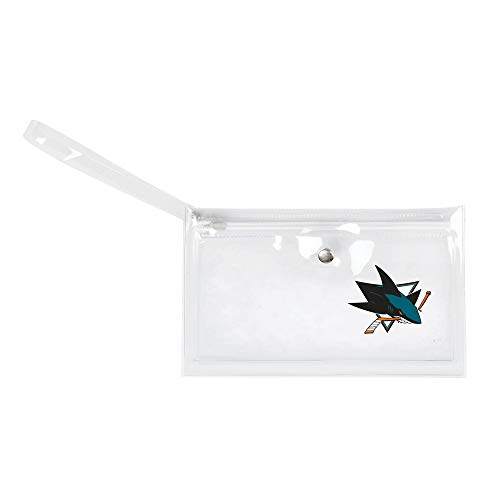 (Littlearth - LIWXY NHL San Jose Sharks Unisex Nhlnhl Ticket Wristlet, Clear, 9