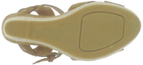 US Polo Assn - Sandalias de terciopelo para mujer Marrón (Marron (Brw))