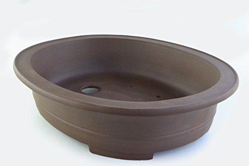 Large Unglazed 26'' Oval Yixing Purple Clay Ceramic Bonsai Pot(PB2-26) by BonsaiSupplies