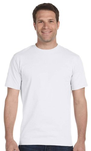 Hanes Men's Beefy-T Crewneck Short-Sleeve T-Shirt, White - X-Large Tall
