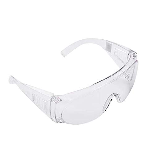 Prevent Droplets Goggles for Men and Women: Dust Proof Wind Proof Sand Proof Splash Proof Impact (Transparent)