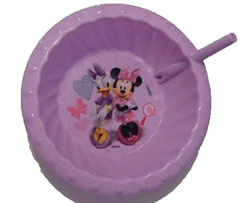 (Zak Designs Minnie Mouse and Daisy Duck Children's Sipper Cereal Bowl With Straw)