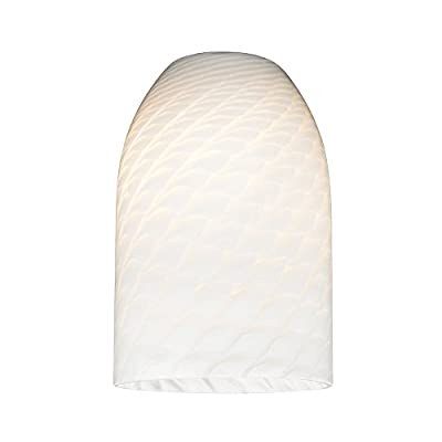White Art Glass Shade - Lipless with 1-5/8-Inch Fitter Opening