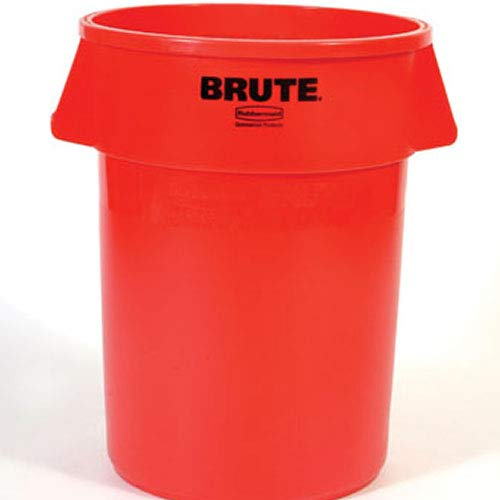 (Rubbermaid Commercial BRUTE Trash Can, 44 Gallon, Red, FG264360RED)