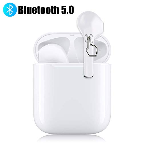 Bluetooth 5.0 Wireless Earbuds Headsets Bluetooth Headphones 3D Stereo IPX5 Waterproof Pop-ups Auto Pairing Fast Charging for Android/iPhone Earphone Wireless Earbud