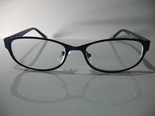 Foster Grant Isa Navy Blue Fashion Catseye Womens Reading Glasses +1.75 Free Hard CASE + Microfiber ()