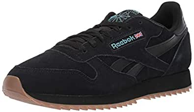 Reebok Men's Classic Leather Sneaker, Black/Mineral Mist/lee, 5.5 M US