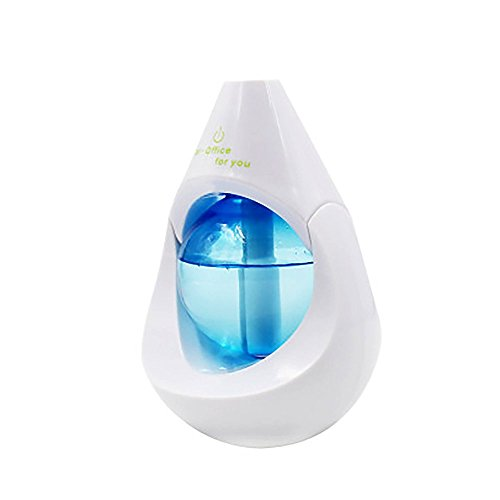 Portable Mini USB Ultrasonic Cool Mist Humidifier Car Diffuser with Night Light for Travel Office Desktop Bedroom Desk Home Baby Room blue by FasterS
