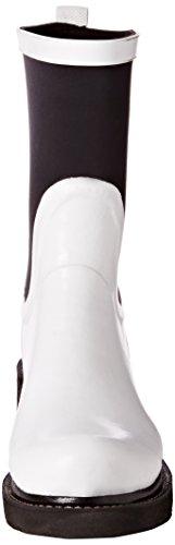 Ilse Jacobsen Damen Gummistiefel Neoprene Kontrastfarben, Rub68cc - Botas de agua Mujer Blanco