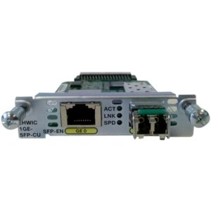 Cisco High-Speed WAN Interface Card - 1 x 10/100/1000Base-T LAN - 1 x SFP (mini-GBIC) - EHWIC-1GE-SFP-CU by Generic