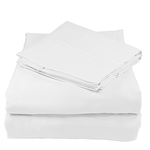 (Whisper Organics 100% Organic Cotton Bed Sheet Set, 300 Thread Count - GOTS Certified (Twin XL, White))