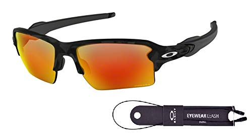 Oakley Flak 2.0 XL OO9188 918886 59M Black Camo/Prizm Ruby Sunglasses For Men+BUNDLE with Oakley Accessory Leash ()