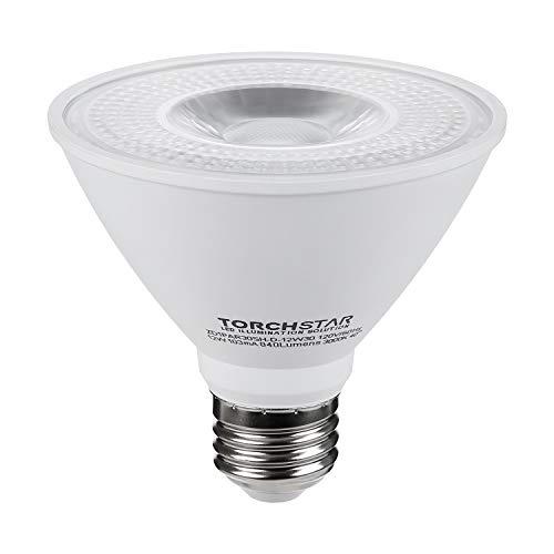 TORCHSTAR PAR30 Short Neck LED Spot Light Bulb, Dimmable, 12W 75W Equiv, High CRI90+, 3000K Warm White, 840Lm, E26 Medium Screw Base, Energy Star & UL Listed LED, 3 Years Warranty