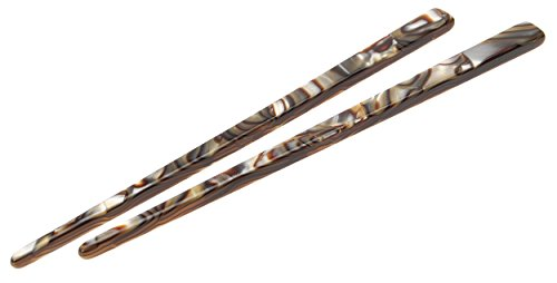 France Luxe Short Hair Stick Pair - Onyx (Onyx Eyes Pin)
