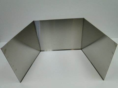 Stainless Steel fireplace reflector