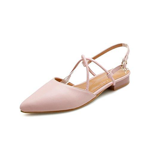 GAOLIM Zapatos De Mujer De Verano Punta Patilla Volver Las Tiras Transversales Luz Es Baja Y Plana Sandalias Verano Zapatos De Mujer Zapatos De Mujer Rosa
