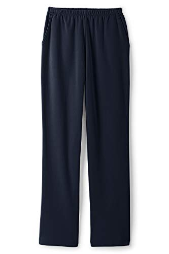 - Lands' End Women's Plus Size Sport Knit High Rise Elastic Waist Pull On Pants Classic Navy