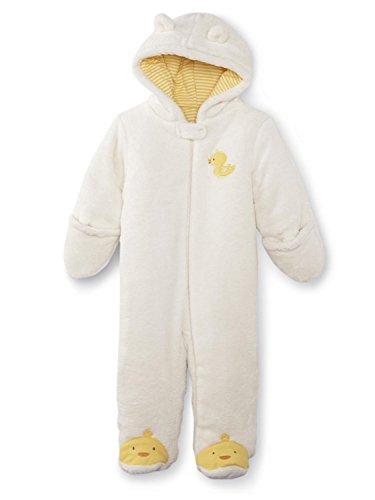 Little Wonders Infant Boys & Girls Ivory Duckling Bunting Plush Baby Pram 3-6m
