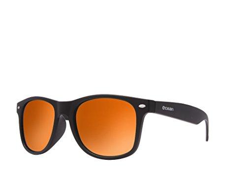 Ocean Sunglasses - Beach wayfarer - lunettes de soleil polarisées  - Monture : Marron Mat - Verres : Revo Bleu (18202.21)