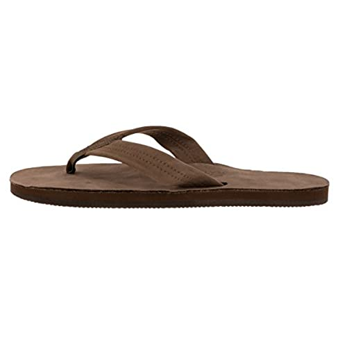 16d420f95 Rainbow Sandals 301ALTS Mens Single Layer Premier Leather Dark Brown Leather  Large   9.5-10.5