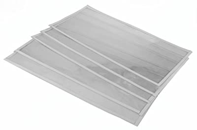 5 Pack of Replacement Window Films for Dragway Tool 60, 90, and 110 Gallon Sandblasting Cabinets
