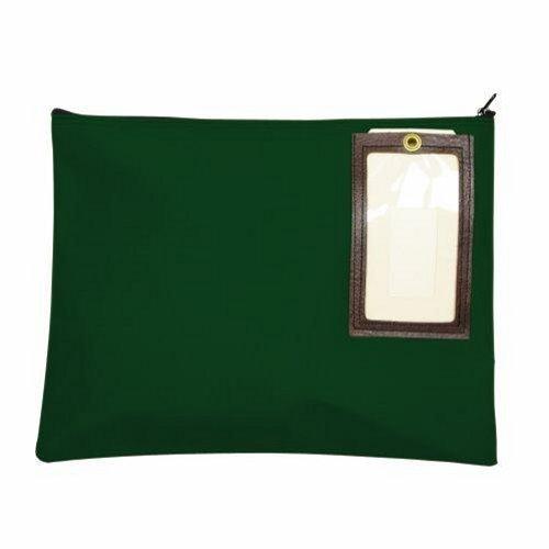 MMF Industries Nylon Flat Transit Sac, 18 x 14 Inches, Hunter Green (2341814N02) 18in Translucent Green