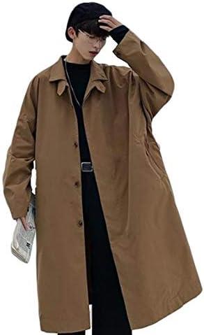 メンズ コート ロング オーバーコート ゆったり カジュアル 秋 春 トレンチコート チェスターコート 薄手 通気 無地 シンプル スプリングコート ストリート
