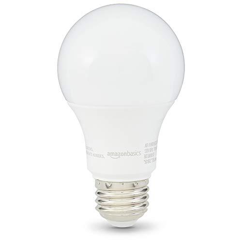 AmazonBasics 60 Watt 10,000 Hours Dimmable 750 Lumens LED Light Bulb - Pack of 6, Soft White