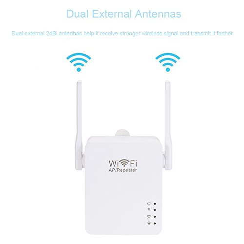 802.11 External Antenna - 300Mbps Wireless Network WiFi Repeater Dual External Antenna 802.11 b/g/n Repetidor AP Client Wireless-N Range Signal Extender