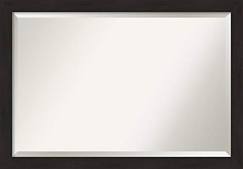 Amanti Art Framed Vanity Mirror | Bathroom Mirrors for Wall | Furniture - Large Bathroom Mirrors Espresso