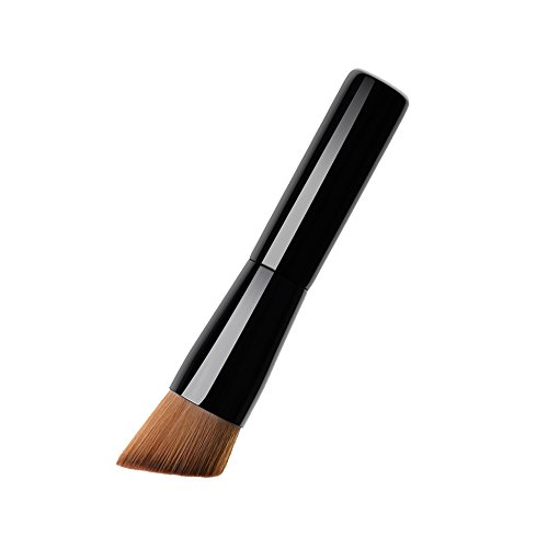 Foundation Makeup Brush, Flat Angled Kabuki Powder Contour Brush Face Cosmetic Tools with Comfortable Handle for Shadow/Contour Included,Great for (Angled Contour Brush)