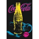 Coca Cola Neon Bottles Vintage Advertising Pop Art Poster (24 x 36 inches)