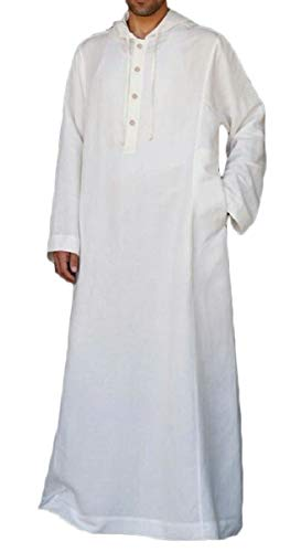 YIhujiuben Men Casual Muslim Kaftan Abaya Thobe Arab for sale  Delivered anywhere in USA