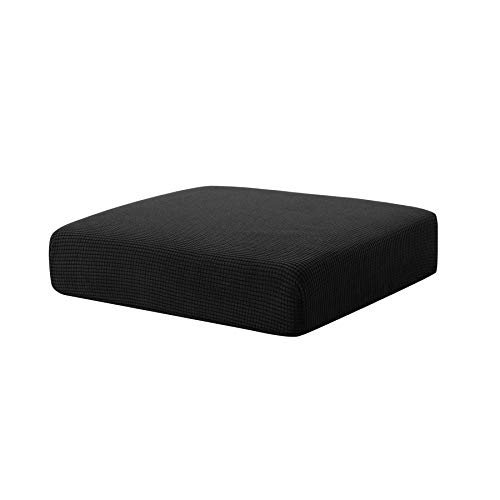 Hokway Sofa Cushion Slipcovers Stretch Spandex Cushion Protector Slipcovers (Black, Chair Cushion) (Patio Cushions Black)