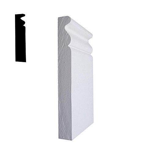 ALEXANDRIA MOULDING 3/4 in. x 3-3/8 in. x 6 in. Primed MDF Plinth Block Moulding ()