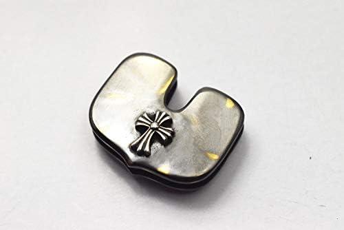 グッドバイブレーションズ OLD POINT オールドポイント キーヘッドカバー アンティーク加工 真鍮製 シルバータイニークロス アンティークブラス加工 2重リング付き キーカバー キーキャップ